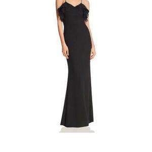 NWT Aqua black detail lace gown (XL)